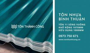 Tôn Nhựa 11 Sóng Vuông Bình Thuận