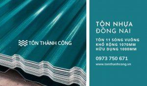 Tôn Nhựa 11 Sóng Vuông Đồng Nai