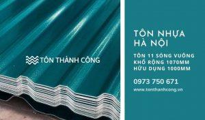 Tôn Nhựa 11 Sóng Vuông Hà Nội
