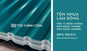 Tôn Nhựa 11 Sóng Vuông Lâm Đồng