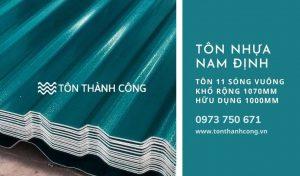 Tôn Nhựa 11 Sóng Vuông Nam Định