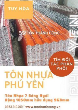 Tôn Nhựa Phú Yên 7 Sóng Ngói