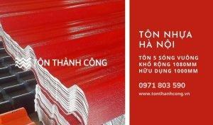 Tôn Nhựa 5 Sóng Vuông Hà Nội