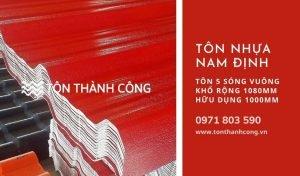 Tôn Nhựa 5 Sóng Vuông Nam Định